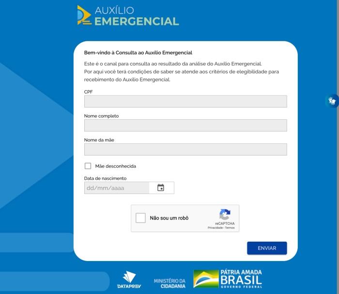 Consulta Dataprev auxílio emergencial